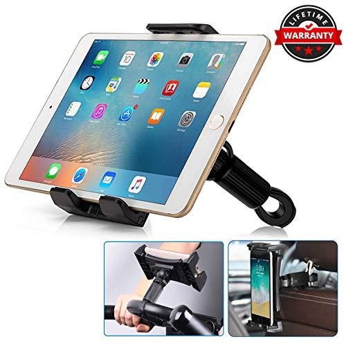 Porta Tablet Auto, Multifunzionale Universale Porta Telefono Bici Moto [Barra Trasversale 0,47'-1,5'], Porta Tablet Auto Poggiatesta Per iPad Mini/Air, Galaxy Tabs [Tablet da 4,5'-13,3']