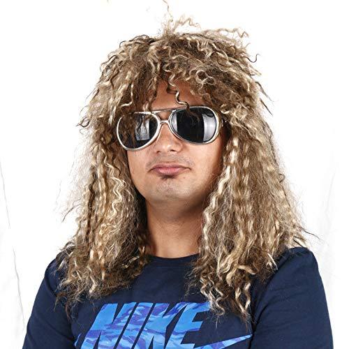 cker Perücke Kostüm Heavy Metal Perücken Bon Jovi Mullet Brown Blonde Frauen ()