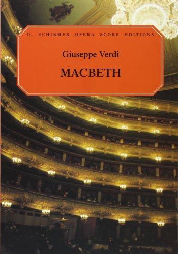 Giuseppe Verdi  Macbeth (Vocal Score) Opera