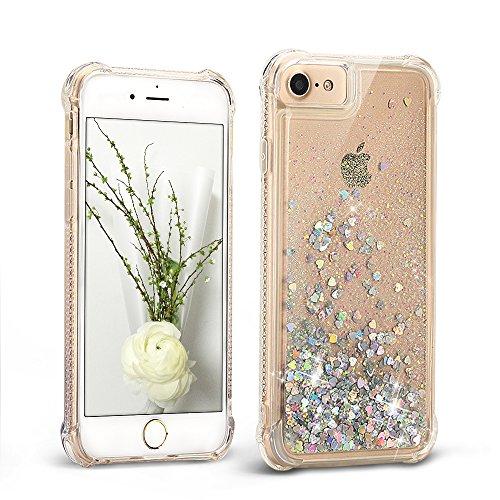 Mosoris Coque iPhone 6S Glitter Liquide 3D TPU Etui iPhone 6 Transparente Souple Silicone Case Cover pour iPhone 6 / 6S Antichoc Couverture Flexible Bling Housse avec Paillettes Sable, Argent
