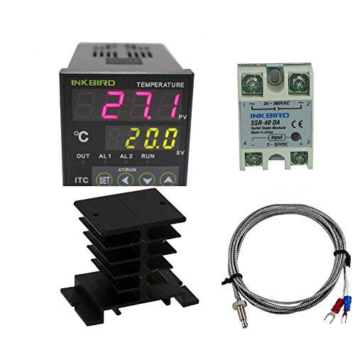 Inkbird Dual Digital PID Temperature Controller ITC-100VH + K sensor Und schwarzes Kühleisen,Heizen & Kühlen Thermostat -