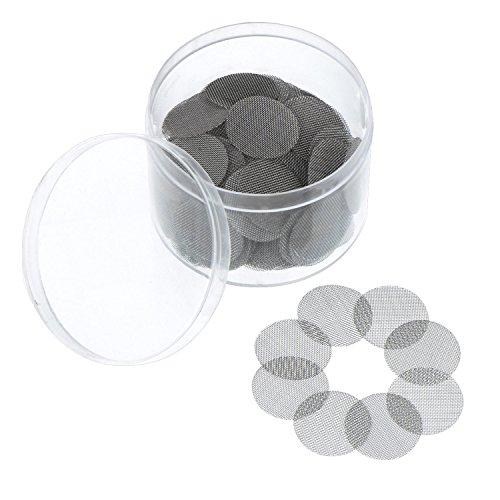 150 Piezas de Filtro de Pantalla de Acero Inoxidable Pantalla de Pipa de Fumar 20 mm con Caja de Almacenaje