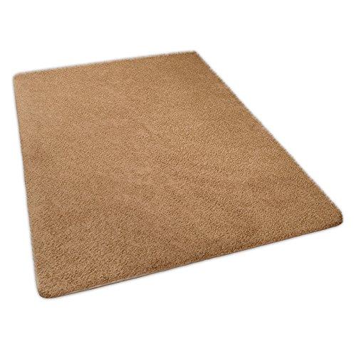 casa pura® hochwertiger Hochflor – Teppich für besonders weiches Laufgefühl   beige   4 Größen