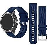 HappyTop 20mm bande de remplacement Bracelet de montre bracelet pour S2/Moto/Vivoacive/Vivomove/Huawei, mixte, bleu