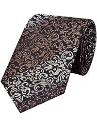 Tiekart Black Paisley Micro Fiber Necktie for Men