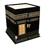 CHUNGROO Wooden Ajmer Sharif Islamic Muslim Holy Quran Khana Kaba Art(Black, Large)
