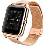 Premium AV Maya Z50 Black Dial Smart Watch (MST-322) (Gold)