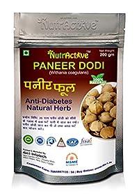 NutrActive Paneer DODI | Indian Rennet | Paneer Doda | Paneer Ka Phool | Withania Coagulans | Anti-Diabetic (200GM)