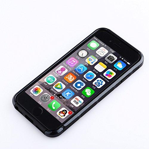 iPhone 6S Hülle technext020 haltbar Gel Rüstung Cover für iPhone 6 6S Stoßstange Hybrid hartem Kunststoff und weichem Silikon Hülle für das Apple iPhone 6 und iPhone 6S Schwarz schwarz