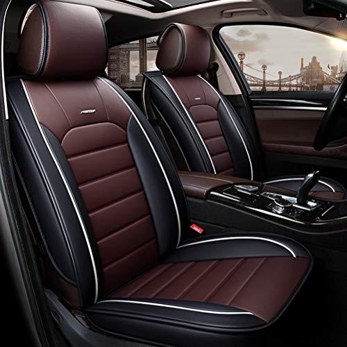 Yunchu Auto sitzbezüge Leder Universal Autositzbezug Full Set Waterproof fit Die meisten SUV-LKW for Audi A3 / A4 / A5 / A6 / A8 / Q3 / Q5 / RS4 (Farbe : Coffee Color)