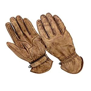 54958dbfdf1f5e BOSmoto Motorrad Handschuhen Racing Kevlar gewachst Leder Handschuhe Wachs  (L, Wachs Braun)