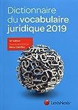 Lire le livre Dictionnaire vocabulaire juridique 2019 gratuit