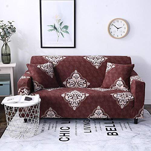 FENFANGAN Copridivano Black White Sofa Tight Wrap all-Inclusive Slip-Resistant Sofa Cover Seat Couch Covers Sofa Towel Single/Two/Three/Four-@K453 Ab 90-140Cm