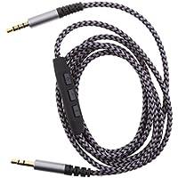 MagiDeal Cable de Audio Estéreo Trenzado Auxiliar de 3.5mm (Macho A Macho) Volumen de Micrófono Remoto