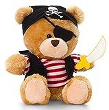 Peluche Pirate, ours en peluche, bonnet, épée et cache-œil Bandana, Ourson en peluche doudou env. 14cm