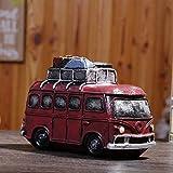 YUNDING Salvadanaio Creativo, Forma Bus retrò, Materiale in Resina Ecocompatibile di Alta qualità, Anti-Caduta Resistente all'Usura, Regalo per Bambini, Arte della Decorazione Domestica