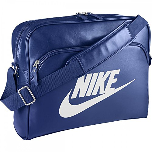 NIKE Herren Schultertasche Heritage SI Track Bag, Deep Royal Blue/White, 40.5 x 30.5 x 12.5 cm, 15 Liter, BA4271-483