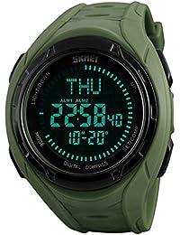Relojes de brújula para deportes al aire libre, relojes de hombre, LED, electrónico, digital, cronógrafo,…