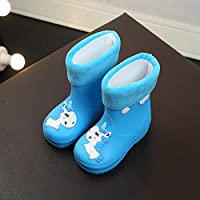 ZWXDMY Wellies,Wellington Children Winter Children Of cotton velvet antislip blue cotton Boots Form Unicorn, easy to clean Waterproof, Indoor Outdoor Shoes Casual