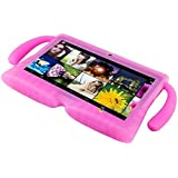 "AST Works Bundle Case For Kid's 7"" 16G Android Multi Touch 4.4 Quad Core Tablet PC Rose"