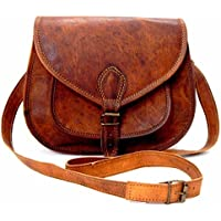 Shakun Leather Authentische Vintage Braune Umhängetasche für Frauen, NEU
