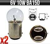 6V 10W BA15D CLASSIC MOTORBIKE / SCOOTER SIDE & TAIL BULBS P244D *PACK OF 2* - Toplamp - amazon.co.uk