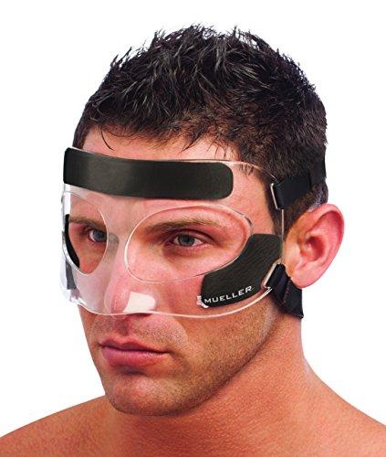 Mueller 81457 Verteidigung von Impatto bis Nase und Gesicht Unisex - Erwachsene, Transparente, Einheitsgröße