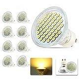 8X GU10 Ampoule LED Lampe 3W 48 SMD 3528 Blanc Chaud 3000k Lampe LED Excellente Luminosité 200Lumen AC200-240V