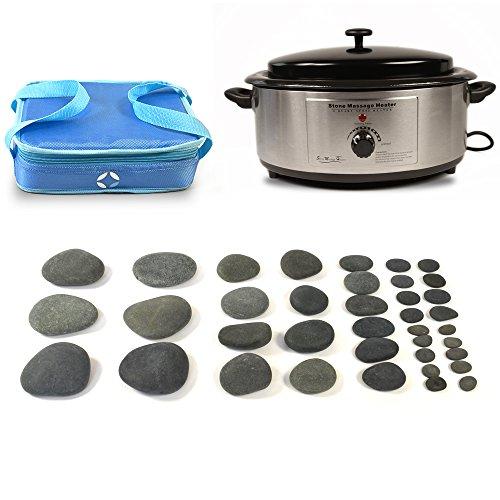 FS International Holistic Supplies Basic basalt Kit mit 6Quart Heizung und Vulsini Cold Stone Tasche-38Stück -
