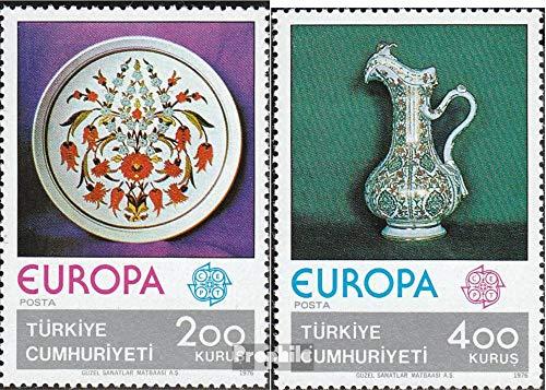 Prophila Collection Türkei 2385-2386 (kompl.Ausg.) 1976 Europa: Kunsthandwerk (Briefmarken für Sammler) Glas / Keramik / Porzellan -