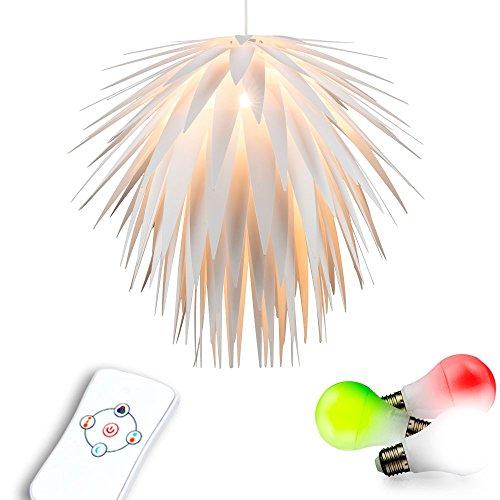 Extravagante Farbwechsel Decken Hänge Leuchte Party Raum Lampe im Set inklusive RGB LED