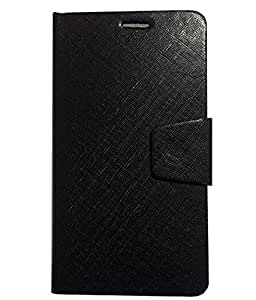 Avzax Premium Leather Flip Case Cover with Magnetic Closure for Honor 7 (Black)