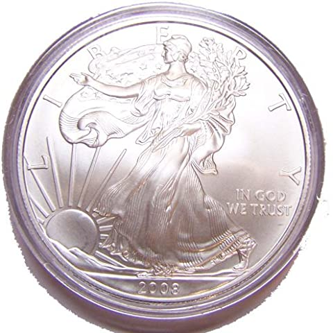 2008 Brilliant Uncirculated 1 Ounce Silver American Eagle by United States