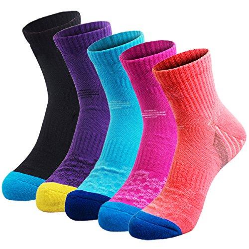 51lNkZKz7kL. SS500  - Veatree 5 Pairs Women's Hiking Socks, Multi Performance Cushion Walking|Trekking|Running|Camping Outdoor Crew Socks Year Round