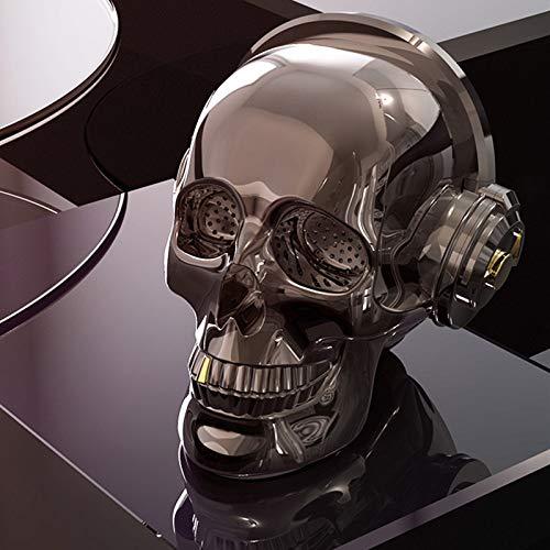 qiyanSkull Tête Bluetooth Haut-Parleur sans Fil Subwoofer Audio Aux TF Carte Lecteur de Musique Stéréo Mp3 Mobile Téléphone Ordinateur Haut-parleurs-in Portable Haut-parleurs Gris