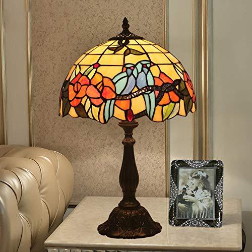 GSC-light Lampara de Mesa Simple Vintage Pastoral Europeo Estilo Victoriano Lámpara de Mesa Lámpara de Escritorio Lámpara de Noche Lámpara de Noche (Color : Colorful, tamaño : Free Size)