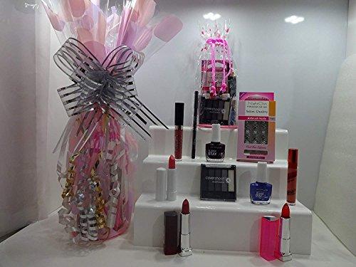 Luxe 10pc Maquillage Panier cadeau, Mix marques Make Up, ongles & gratuit Transparent Make Up Sac cadeau Emballé Panier cadeau pour elle
