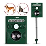 INTEY Cat Repellent Outdoor Waterproof Ultrasonic Sonic Solar Battery Powered Drive Away Fox Squirrel