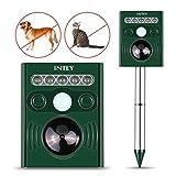 INTEY Cat Repellent Outdoor Waterproof UltrasonicSonic Solar Battery Powered Drive Away Fox Squirrel