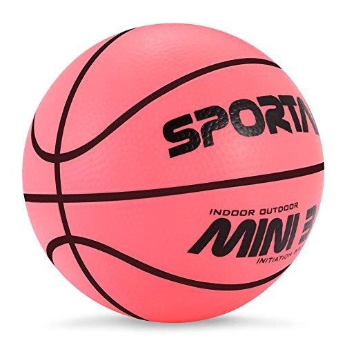 Pelota de baloncesto mini para interior o piscina para niños, blanda, rebota, 12,7 cm de diámetro, rojo