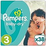 Pampers Baby-Dry Größe 3, 5-9 kg, 38 Stück