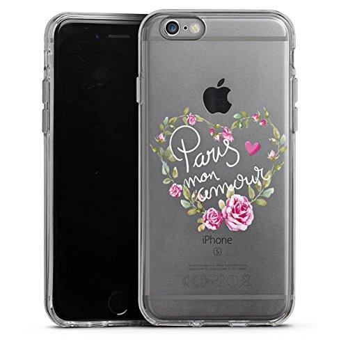 Apple iPhone 7 Silikon Hülle Case Schutzhülle Paris Mon Amour Spruch ohne Hintergrund Silikon Case transparent