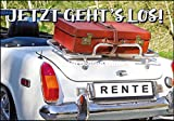 Glückwunschkarte zum Ruhestand * Auto & Koffer * Jetzt gehts los