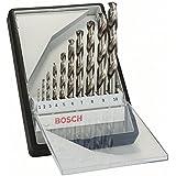 Bosch 2 607 010 535 - Set de 10 brocas para metal Robust Line HSS-G, 135° - 1; 2; 3; 4; 5; 6; 7; 8; 9; 10 mm, 135° (pack de 1