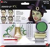 Smiffys Déguisement, Kit de maquillage belle sorcière, avec peinture pour le visage, tatouage et perles, 44410