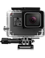 iTrunk Wasserresistente Schutzhülle/Gehäuse mit Schnellmontage-Klammer und Rändelschraube (Daumenschraube) für die GoPro Hero 5 Black Action Kamera