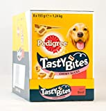 8 x 155g Pedigree Tasty Bites Chewy Slices Beef Dog Treats