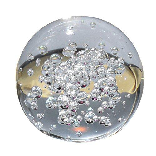 JWBOSS 8 cm Künstliches Kristallglas Kugel Kugel Blase Transparent Selten Klar Startseite Hochzeit Figuren Dekoration De