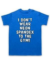 I Don't Wear Neon Spandex To The Gym Bodybuilding Culture Slogan Herren T-Shirt
