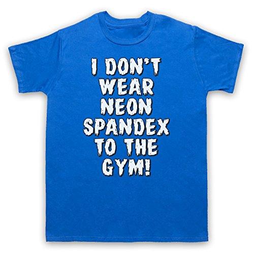 I Don't Wear Neon Spandex To The Gym Bodybuilding Culture Slogan Herren T-Shirt Blau